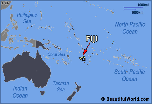 fiji oceania map